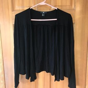 Short black cardigan